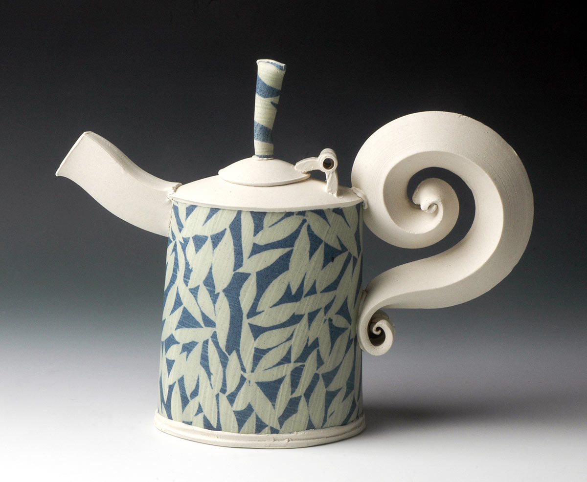 Blue and Green Teapot