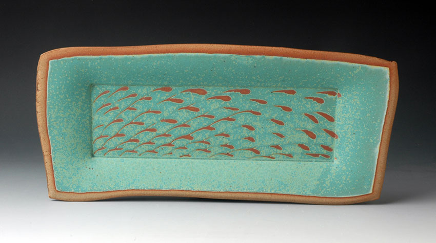 Tray with Turquoise Resist