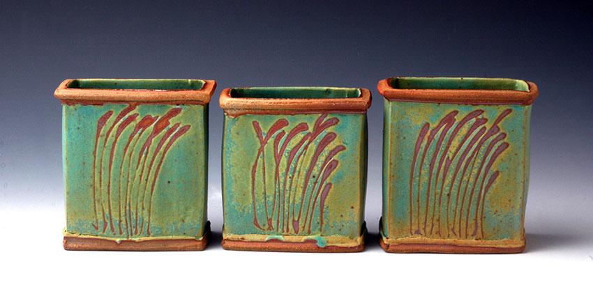 Turquoise Resist Jars