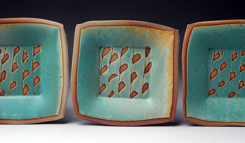 Plates with Branch and Leaf Pattern