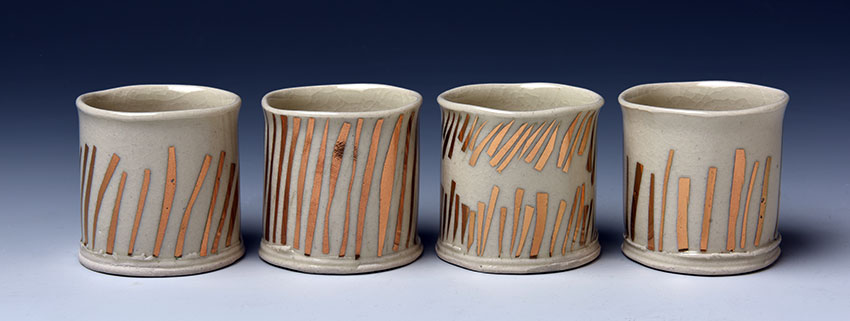 Cups with Gold Detail