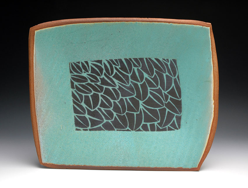 Platter with Leaf Pattern