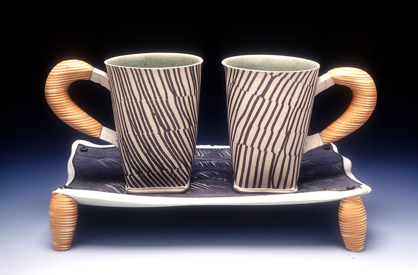 Mugs with Plywood Handles